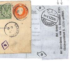 Ad96 1921 Gb Registered German Mail Registered Stationery Censor Hannover Label