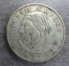 PIECE MONNAIE 2 REICHSMARK ARGENT ALLEMAGNE REPUBLIQUE WEIMAR 1933 E