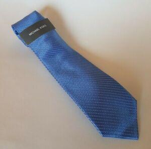 Michael Kors Men's Necktie in Geometric Dash Blue MSRP $69.50 New