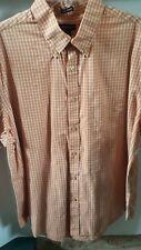 Men's XL dress shirt Van Heusen orange/wht ck. S/S