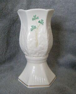 BELLEEK Ireland Clover Leaf 2-piece Fairy Lamp