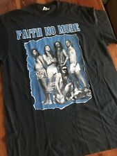 Vintage 1990s Faith No More Black T-Shirt Rock  Shirt Size L