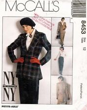 1980's VTG McCall's NY Collection Jacket,Shirt,Pants Pattern 8453 12 UNC