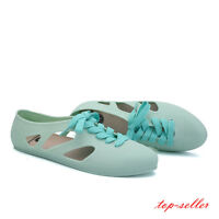 Stylish Women's Summer Slip On Casual Shoes Lace Up Jelly Color Beach Sandals Sz