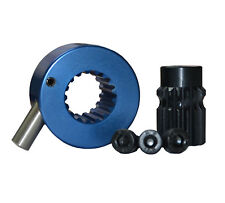 Splined Quick Release Steering Hub Satin Metallic Blue Brisca F2 Autograss Mini