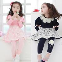 Kids Toddlers Girls Princess Party Lovely Plaid Pokla Long Sleeve Full Dresses