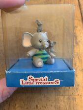 "Mini Elephant Figure w/ Mice by Russ Berrie & Co. ""Special Little Treasures"" Vtg"