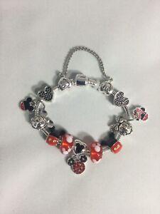 Mickey Minnie Mouse Themed Disney Princess / European Charms Bracelet Brand New!