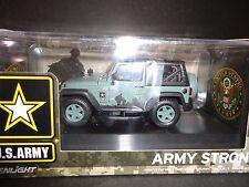 Greenlight Jeep Wrangler U. S. armée foncé vert 1/43