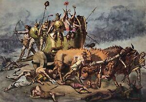 Ernest Griset. The Ancient Britons. Original Art.