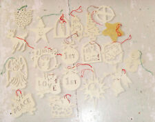 Lot of craft store wood cut out Christmas ornaments to paint sleigh deer baby