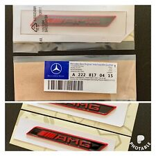 2 x AMG Red Side Decal Badge Sticker for Mercedes-Benz  AMG Sport UK 🇬🇧