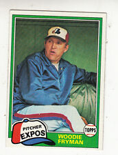 1981 TOPPS BASEBALL CARD #394 WOODIE FRYMAN HOUSTON EXPOS - NM/MT