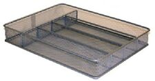 """Honey-Can-Do Small, Mesh Metal Cutlery Tray, 12.25"""" x 9.25"""" x 2"""""""