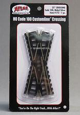 ATLAS HO SCALE 25 DEGREE TRAIN TRACK CROSSING NS CODE 100 black rail atl 172 NEW