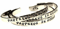 PARTNERS IN CRIME - Hand Stamped Aluminum Cuff Bracelets Set, Forever