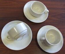 Juego  de plato y taza para te ó cafe gren Gres fino 12 pz (6 tazas + 6 platos)