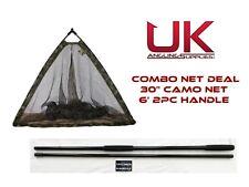 "Dinsmores Camo Power 30"" pliant Spécimen Net & 6' 2pc Spécimen Carpe/Brochet Poignée"