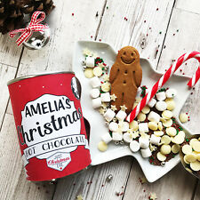 Christmas Hot Chocolate | Personalised Ring Pull Tin | Traditional with Toppings