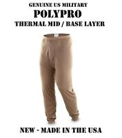 NEW US MILITARY ARMY USMC POLY PRO THERMAL MID BASE UNDERWEAR S PANTS BOTTOMS
