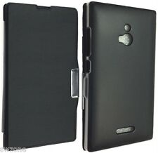 NOKIA XL DUAL SIM rm-1030 rm-1042 Custodia in Pelle Lusso Custodia Cover Back WALLET