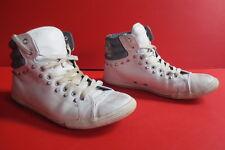 Converse Chucks All Star Pelle Bianco Tg. 39 1/2 (UK 6 1/2) N. 05 UNISEX