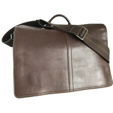 Coach #70104 -Men's Transatlantic Leather Messenger Bag -Mahogany Brown