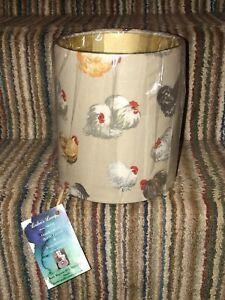 GP & J Baker 'Rare Breeds' Gold Lined, Hens Lampshade 15cm Drum - NEW - Sealed