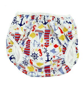 Lighthouse - Reusable Modern Cloth Swim Nappy, Toddler to Child, Washable NEW