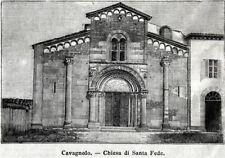 Cavagnolo: Abbazia di Santa Fede. Torino. Stampa Antica + Passepartout. 1899