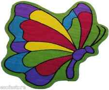 """Rug Area Rugs 100% Nylon Carpet Butterfly Flight 39""""x58"""" Size Multi-Color Rug"""