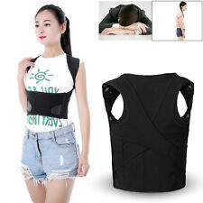 XXL Men Women Posture Corrector Lumbar Shoulder Back Support Brace Belt Strap