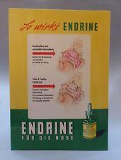 Endrine Nasentropfen Plakat Pappaufsteller Reklame Schild Werbung Apotheke 1958