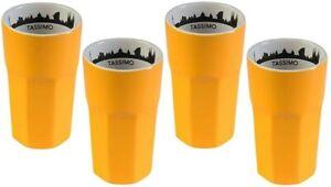 4 Stück Jacobs Tassimo Latte Macchiato Becher Barcelona Orange - kein Glas