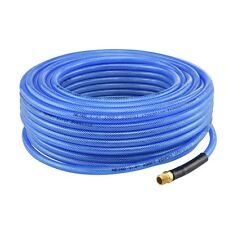 "1/4"" NPT Fitting x 50 FT Air Compressor PU Hose Roofing Framing Carpentry New"