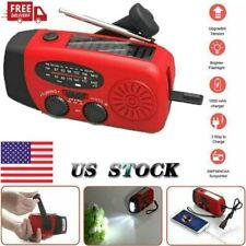 Emergency Hand Crank Self Powered Am/Fm Noaa Solar Weather Radio with Led Flash