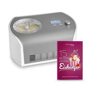 Springlane Eismaschine Elli Kompressor 1,2 l Edelstahl Joghurt Eiscreme Froze eT