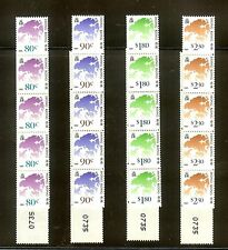 HONG KONG 1991 MAP COIL STAMP STRIP OF 5 x 4v VF MNH