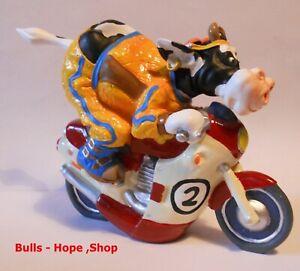 so'vache Kuh fährt Motorrad , Biker  , Cow  ,Figur,Neu , Sov05