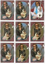 Steve Vai 2008 Trading Card; Upper Deck Guitar Heroes #250 (Football) 9 Card Lot