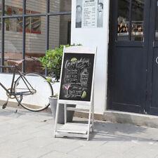 More details for foldable wooden pavement sign a-board chalkboard /cafe/shop/pub magnetic board