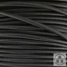 Textilkabel Stoffkabel Lampen-Kabel Stromkabel Elektrokabel Schwarz 3 adrig