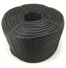 14mm Black Polypropylene Rope x 50 Metres, Poly Rope Coils, Cheap Nylon Rope