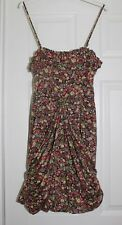 ~OASIS~STRAPPY DITZY FLORAL SHORT RUCHED DRESS~SIZE 10