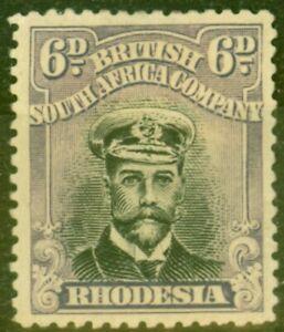 Rhodesia 1918 6d Black & Dull Mauve SG266 Fine MM Stamp