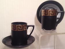 Portmeirion Pottery  cup and saucer (Greek Golden Keys)