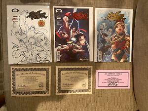 Street Fighter Foil Letter - Original Run - Complete Set - COA Certificate NM!!!
