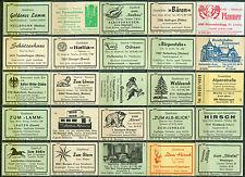 25 alte Gasthaus-Streichholzetiketten aus Deutschland #564