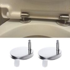 2Pcs Top Fix Wc Toilet Seat Hinges Fittings Quick Release Cover Hinge Screw Hot