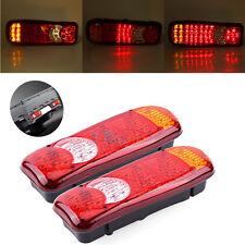 2x 46 LED Rear Tail Lights Indicator Lamp For Lorry Truck Trailer Caravan 12V BT